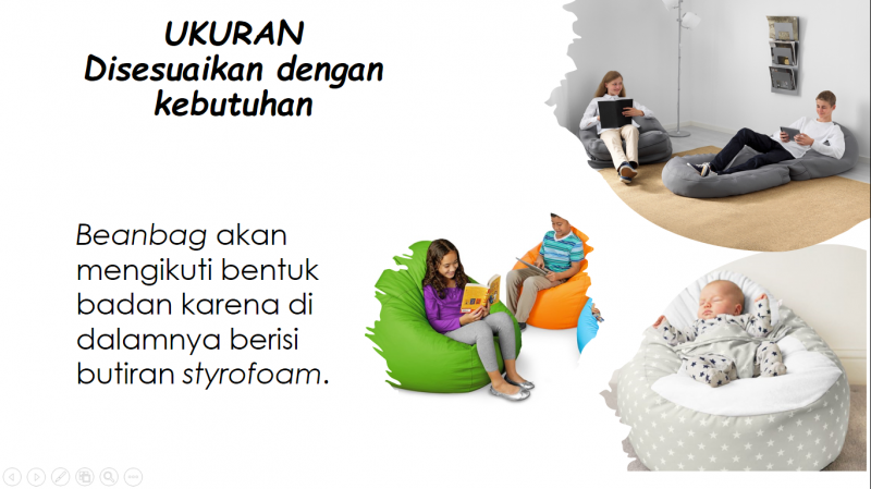Cara singkat bikin sofa BEANBAG tahap per tahap dan ukuran
